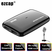 1080P 60FPS HDMI Zu USB 3,0 Video Capture Card Grabber für XBOX PS4 Spiel TV Box Aufnahme PC OBS live-Streaming Mic In Loop Out