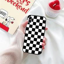 Checkerboard Plaid Phone Case iPhone 11 Pro XS MAX XR X 7 8 6 6s Plus Grid SF
