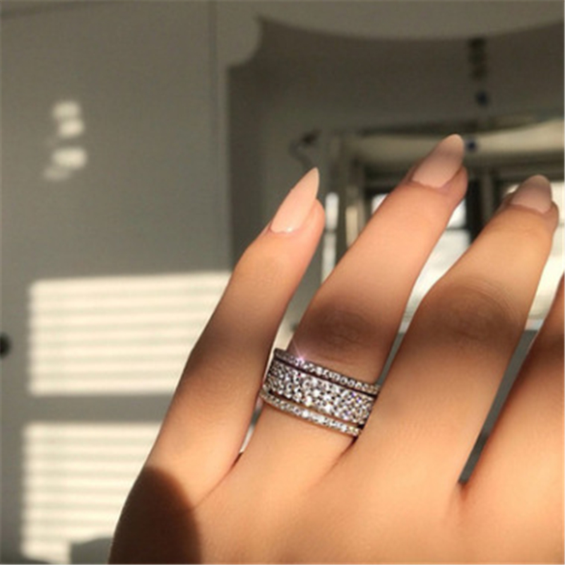 Natural 2 Carats Moissanite Jewelry Solid S925 Silver Ring for Women with Stamp Anillos De Bizuteria Silver 925 Jewelry Gemstone