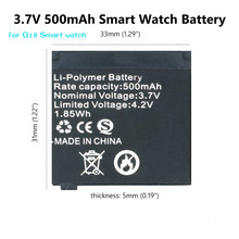 3.7V 500mAh Rechargeable Lithium Battery Li-ion Polymer For Q18 Smart Watch Li-po Battery High Quality jjrc h5c 11 replacement 500mah li polymer battery for h5c x5c silver