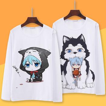 Kuroko no Basuke Cosplay Kuroko do koszykówki dla Cosplay T Shirt Kuroko Tetsuya Kagami Taiga wiosna T-shirt z długim rękawem na jesień Top tanie i dobre opinie anime Unisex Dla dorosłych tops Other
