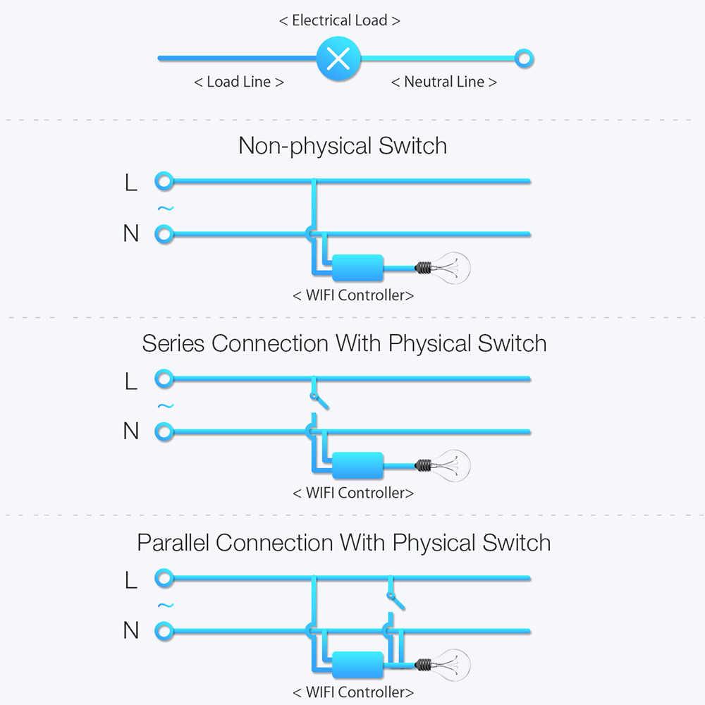 BlitzWolf BW-SS1 inteligentna aplikacja do domu zegar sterujący gniazdo modułu 3300W 15A podstawowe DIY bezprzewodowy przełącznik Wi-Fi praca z Google Home IFTTT