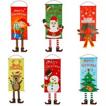 New Year Christmas Decorations Ornaments Pendant Santa Claus Hanging Door Tree Window