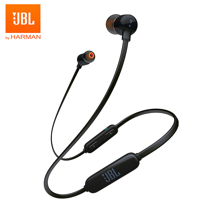 JBL T110BT Wireless Bluetooth Earphone Sports Bass Sound Earbuds Magnetic Headset 3-Button Remote With Mic For IPhone Android