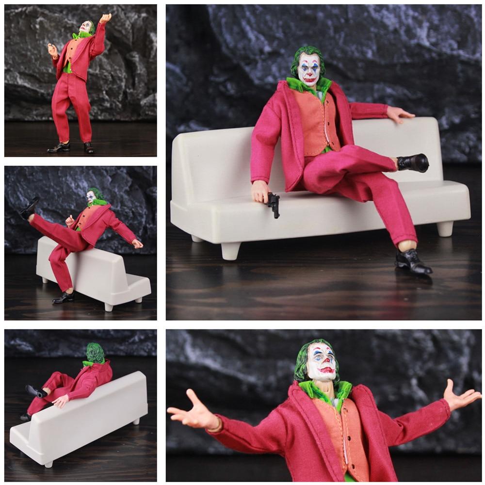 "2019 DC Joker Arthur Fleck 6"" Action Figure Joaquin Phoenix Todd Phillips Movie 1:12 1/12 one:12 Clothes Toys Doll Clown Face"