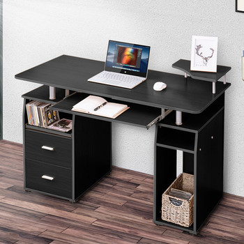 Office Furnitures Office Desk Essential Home Office Laptop Table Computer Desk With Pull-Out Keyboard Tray Drawers Study Table