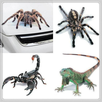 3D Car Sticker Animals Spider Gecko Scorpions Vinyl Decal for BMW E34 F10 F20 E92 E38 E91 E53 E70 X5 M M3 E46 E39 E38 E90 image