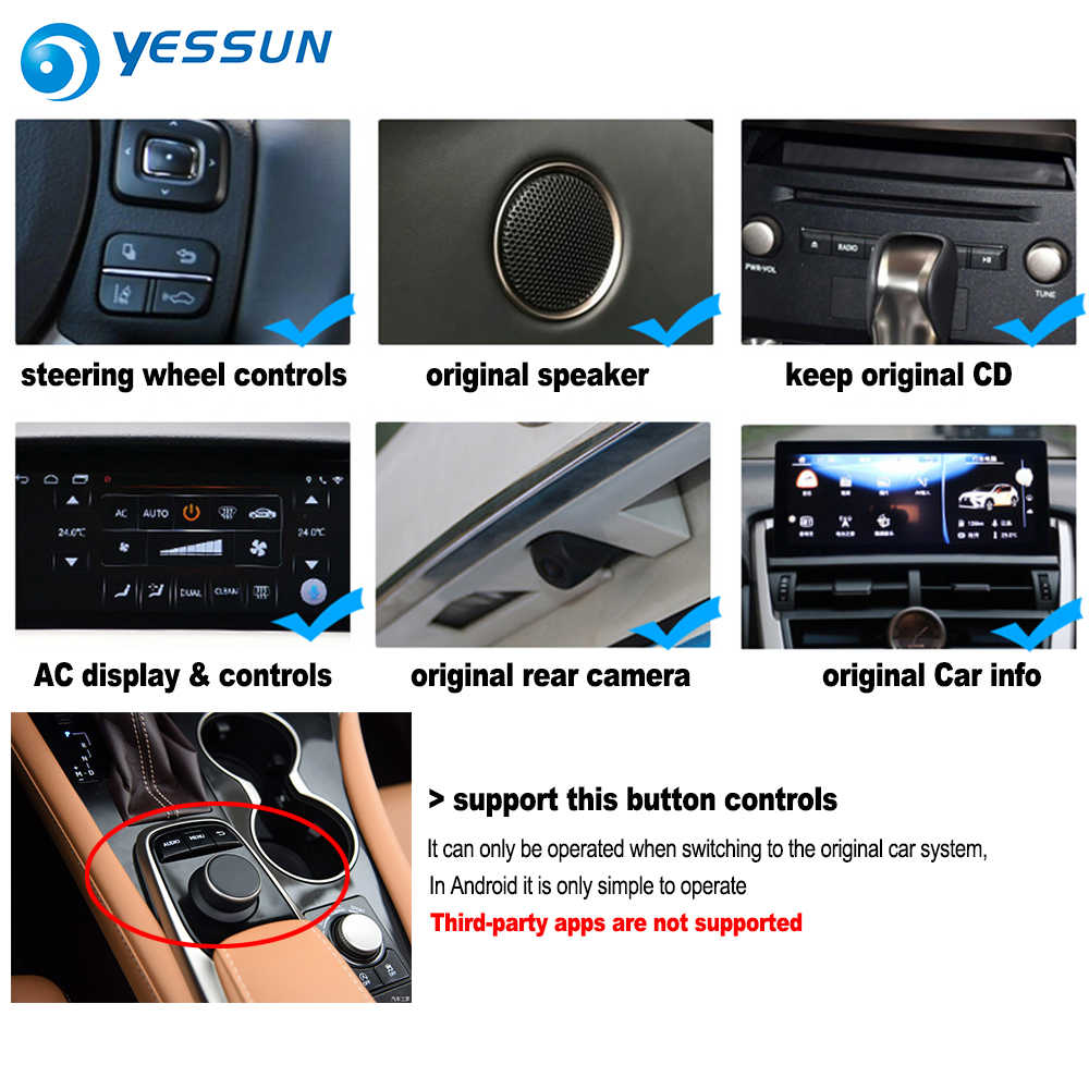 Dla Lexus RX 400h RX400h 2015 2016 2017 2018 samochodów ekran hd odtwarzacz multimedialny Android system nawigacji gps radio stereo wyświetlacz