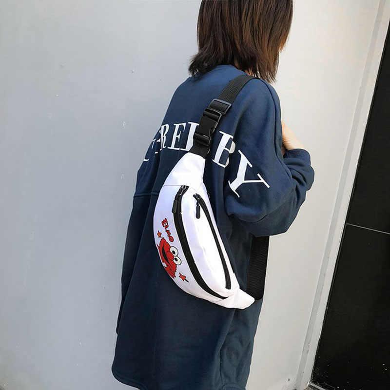 Bolsa de cinturón de lona para mujer, bolsa de cintura pequeña, paquete de Banana, bolsa de viaje, bolsa de viaje para chicas, paquete de pecho para mujer