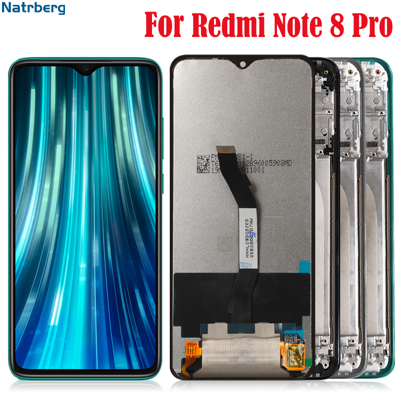 <font><b>Display</b></font> For <font><b>Xiaomi</b></font> Redmi Note <font><b>8</b></font> Pro Lcd Screen With Frame Digitizer Touch Replacement for Redmi Note8 Pro Global Version Lcd image