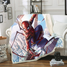3D Print Superhero Spiderman Soft Flannel PortableTravel Bedroom Warm Cartoon Textile Sherpa Fleece Thick Blanket for Beds Plush aibeile 2018 new high quality flannel baby blanket newborn super soft cartoon blankets 100 110 cm for beds thick warm kid
