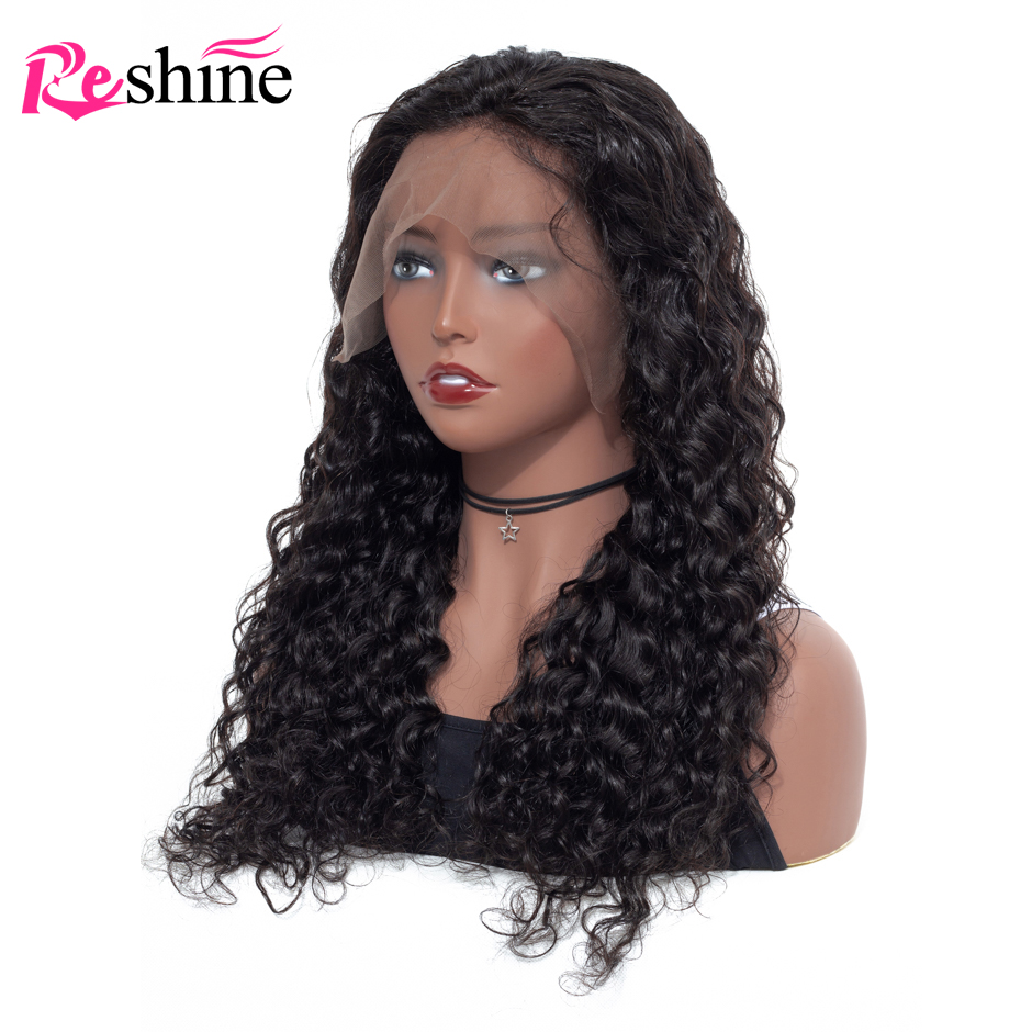 20inch Water Wave Lace Front Wigs 4x4 inch Lace Closure Wig 100% Remy Human Hair Wigs Preplucked With Baby Hair Natural Hairline