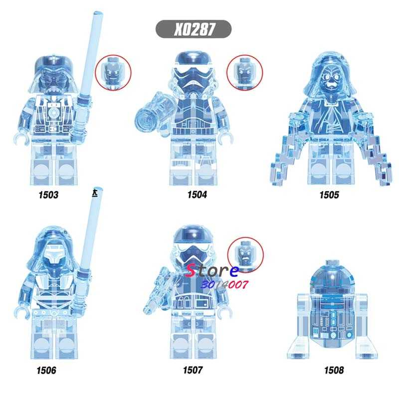 Single Star Wars R2-D2 Imperial Kaisar Darth Revan Yoda Gelap Rey Darth Vader Robot Blok Bangunan Model Batu Bata Mainan
