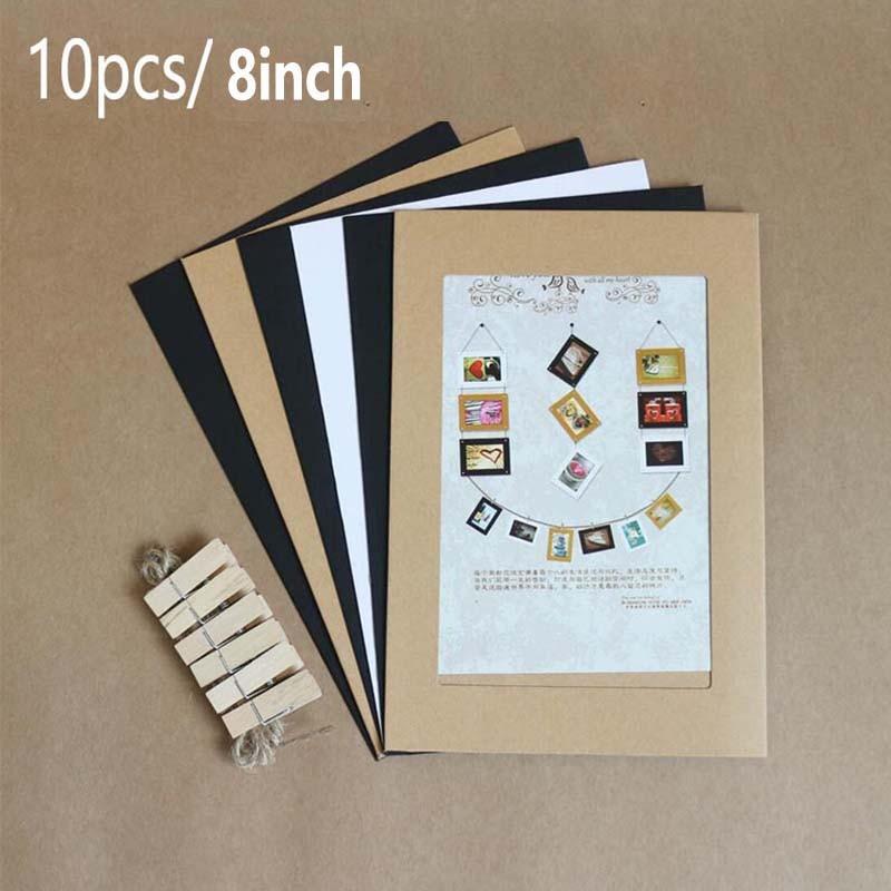 8 дюймов/10 шт. комбинированная бумажная фоторамка с зажимами и 2 м веревкой настенная фотография сделай сам украшение для дома фотоальбом