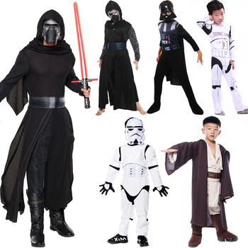 Boys Deluxe Star Wars The Force Awakens Kylo Ren Classic Jedi Imperial  KnightCosplay Darth VaderClothing Kids halloween costume kids birthday halloween party gift new child boy deluxe star wars the force awakens storm troopers cosplay fancy dress kids hall