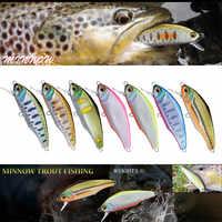 1pcs Design Giapponese Pesca di Oscillazione di Richiamo di Pesca 44 millimetri 3g Sinking Minnow Isca Esche Artificiali Per Bassi Persico pike Trota