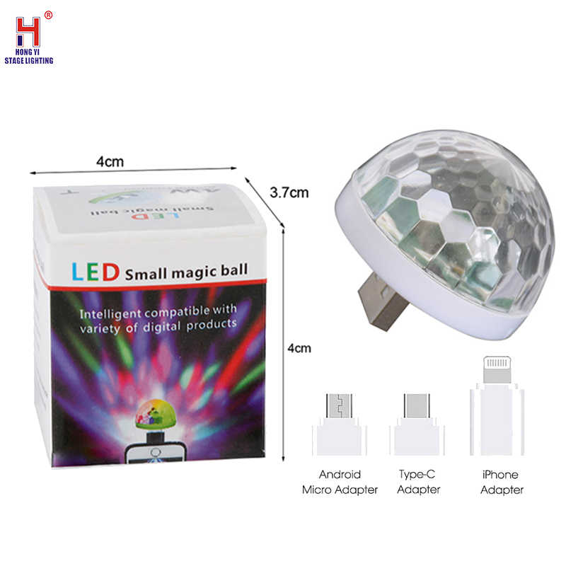 USB Bühne Licht Mini LED Disco Bühne Licht Tragbare Familie Party Magic Ball Bunte Licht Bar Club Bühne Wirkung Lampe