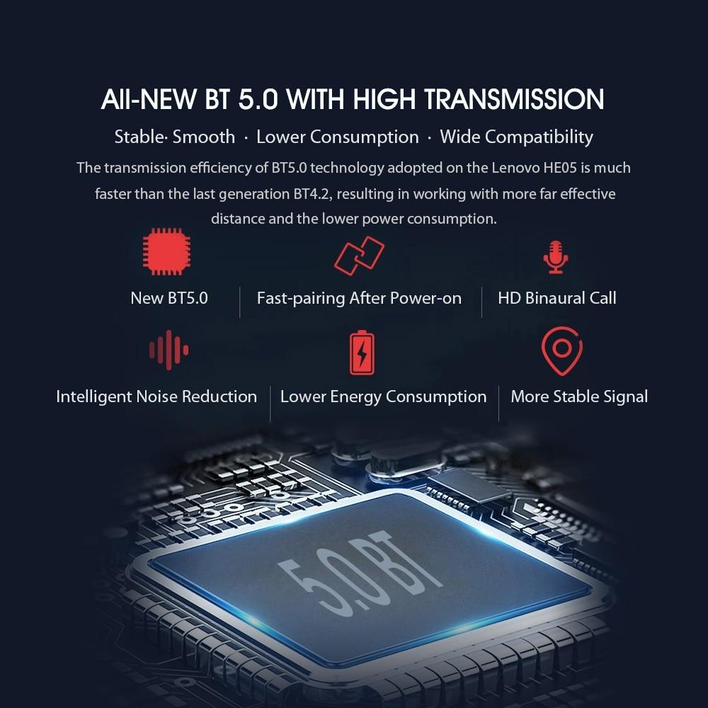 Lenovo HE05 Magnetic Neckband Earphones 7