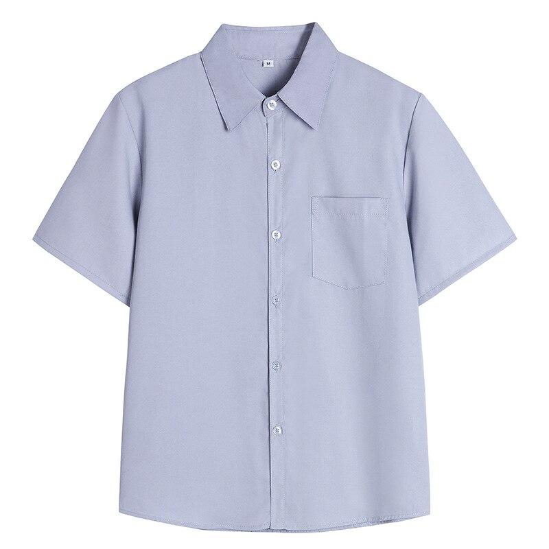 Women Jk Uniform Shirt Korean Version New College Wind Work Uniforms Student Uniforms Jk Uniform Class Service Short Sleeves New