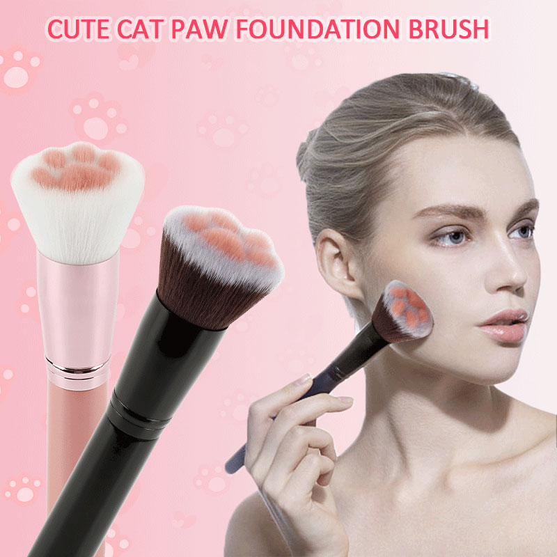 Makeup Brushes Super Cute 1pc Cat Feet Brush Blush Wood Handle Foundation Blending Face Brush Cosmetic Beauty Tool Make Up Tools