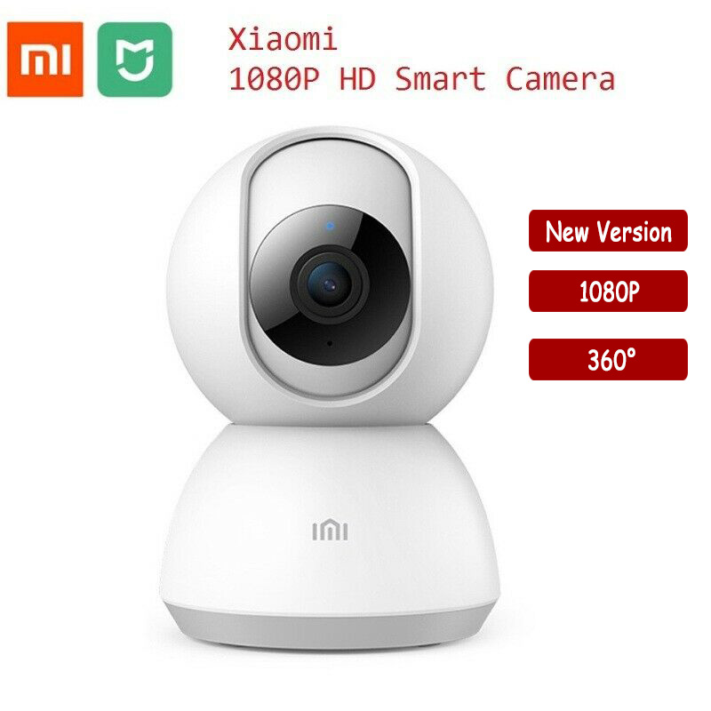 Original xiaomi mijia câmera inteligente 1080 p 360 graus ip câmera de visão noturna casa panorâmica wifi kamera appareil foto