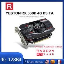 Yeston Radeon RX560D GPU 4GB GDDR5 TA 128bit Gaming Grafiken Karten Desktop Computer Video VGA/DVI-D/HDMI-kompatibel PCI-E 3,0