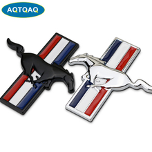 AQTQAQ  1Pcs 3D Metal Mustang Car Side Fender Rear Trunk Emblem Badge Sticker Decals for Ford Mustang,Car accessories stickers цена и фото