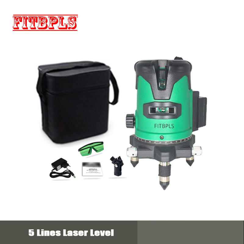 FREE SHIPPING! Touch panel ,laser level- 5 laser GREEN lines 6 points 360 degrees outdoor mode available auto line ,HIGH QUALITY