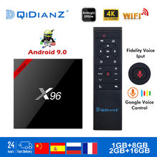 X96 Dispositivo de TV inteligente Android 9,0 S905W Quad Core 4GB + 32GB 2,4G Wifi 4K HD 64 bit mini Netflix reproductor de medios jugar conjunto de tienda-Top Box(China)