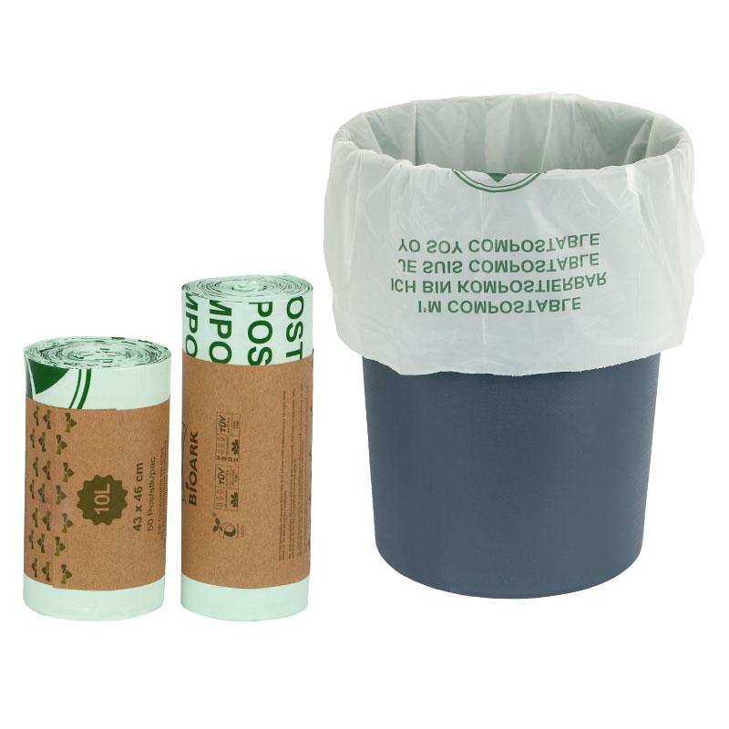 50 Pieces 100% Compostable Trash Bags Biodegradable Kitchen Food Waste Bag, Corn Starch Garbage Bags ,kitchen Scraps Bag