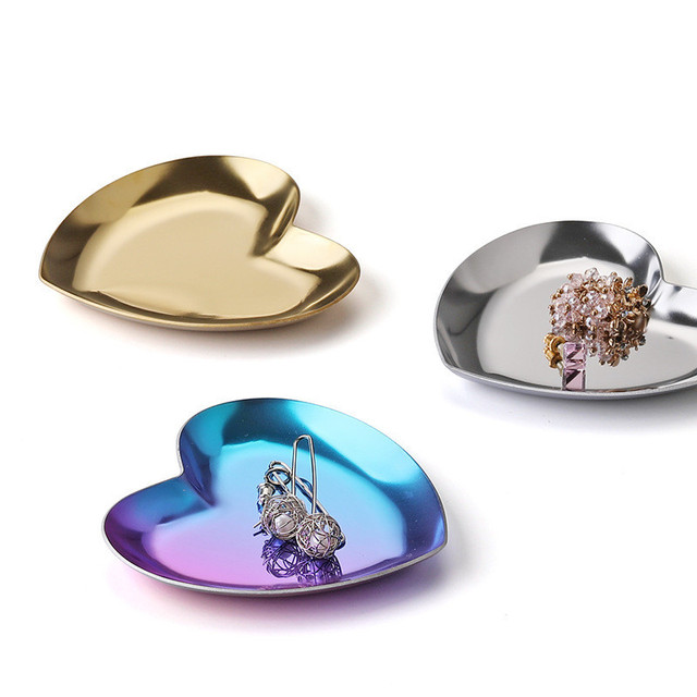 Stainless Steel Gold Dining Plate Nut Fruit Cake Tray Snack Kitchen Plate Nordic Western Steak Kitchen Plate Dessert Plate 5