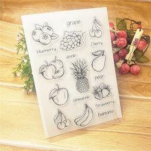 Venda quente frutas alfabeto transparente selo transparente/selo de silicone rolo selo diy scrapbook álbum/cartão de produção
