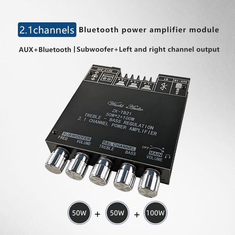 ZK-TB21 TPA3116D2 Bluetooth 5,0 сабвуфер усилитель доска 50WX2 + 100 Вт 2,1 канал Мощность аудио стерео усилитель доска Бас AMP