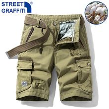 2021 Men Summer New Tactical Cotton Cargo Shorts Men Casual Breeches Bermuda Shorts Men Fashion Pants Camouflage Beach Shorts