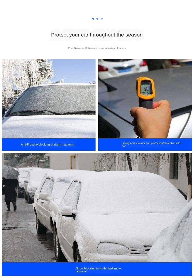 Cobertura do carro bloco dianteiro pára-sol neve