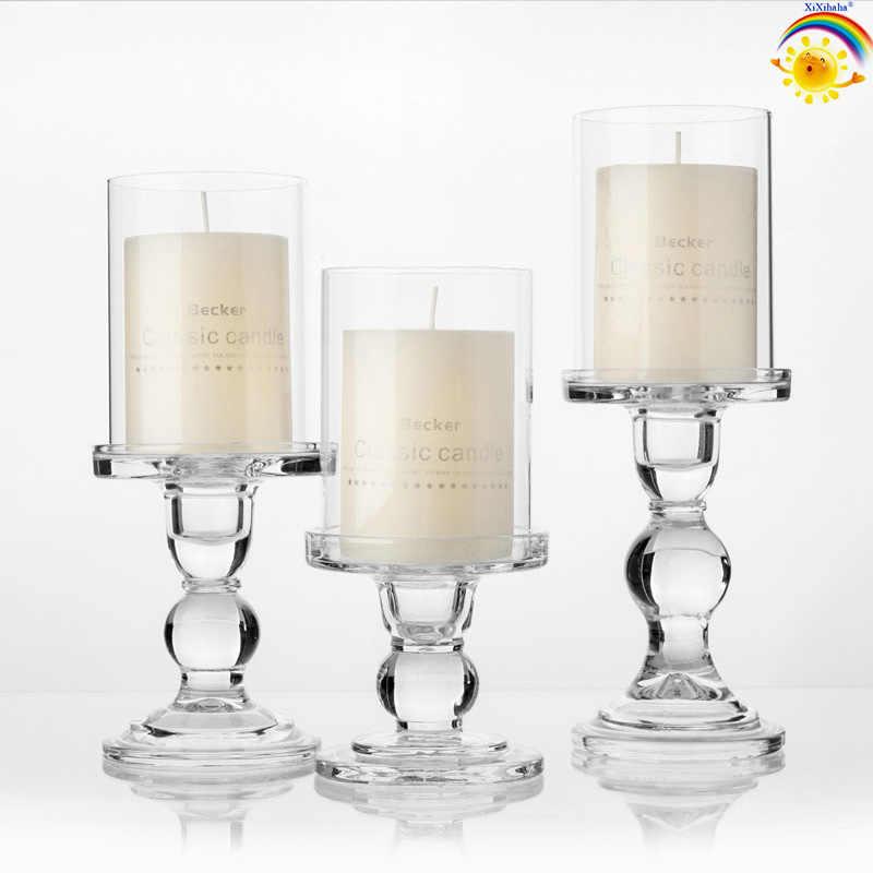 Xigeapg Candela Naturale Diretta Scape Set 3 Portacandele Portacandele Decorativi con Rocce e Vassoio Matrimonio Bar Decorazione Artigianato Candeliere