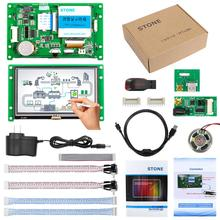 4.3 inch resistive touch screen panel with controller board for industrial HMI control стоимость