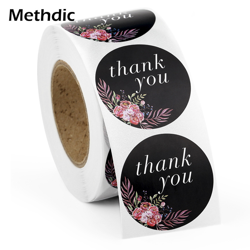 Methdic 500 Stickers Thank You Stickers Thank You Cards For Favors Thank You Label