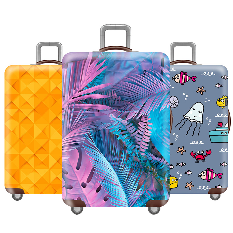 Thicken Travel Luggage Cover Elasticity Luggage Protective Covers Suitable For 18-32 Inch Elastic Fabric Travel Accessories