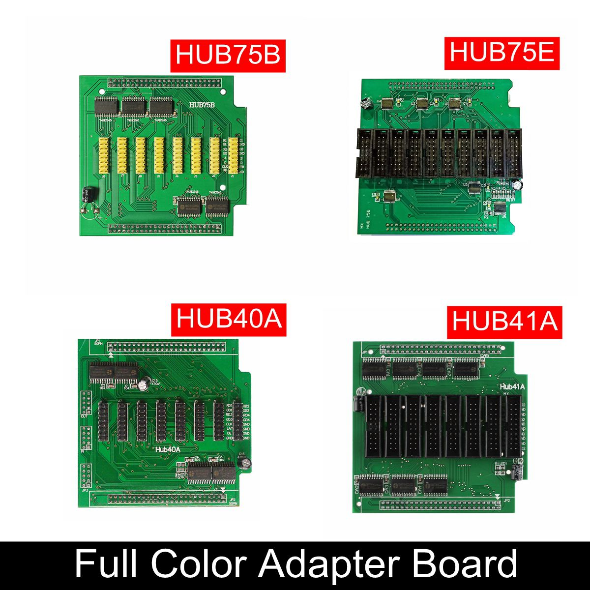 Full Color LED Display Conversion Card Hub75E Hub75B Hub40A Hub41A Work With Full Color Receiving LED Card