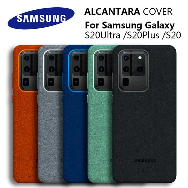 100% Original GENUINE Samsung S20 Ultra Case For Galaxy S20Plus S20 + Alcantara Cover Leather Premium Full Protect Cover 5 color
