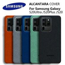 100% Original véritable Samsung S20 Ultra étui pour Galaxy S20Plus S20 + Alcantara couverture en cuir Premium protection complète couverture 5 couleurs