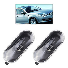 2 sztuk elementy do stylizacji boków samochodu lampa obrysowa obudowa do vw Passat B5 Jetta GTI R32 MK4 dla Golf Bora new beetle 1J0 949 117 czarny & biały-Black & White(China)
