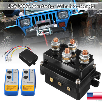 12V 500Amp HD Contactor Winch Control Solenoid Twin Wireless Remote Recovery For any 12V electric recovery winch