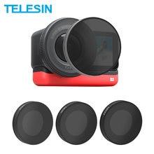Telesin nd8 nd16 nd32 cpl lente filtro conjunto de liga de alumínio quadro para insta360 um r leica ação câmera nd cpl lente accessoreis