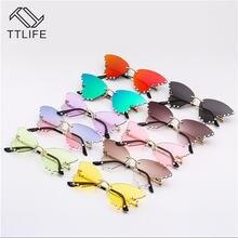 Солнцезащитные очки ttlife без оправы uv400 женские модные винтажные