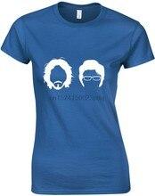Camiseta feminina inspirada jemaine bret do voo dos conchords silhueta