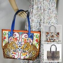 Fashion Womens Bag Ladies Tote Cros Body Purse Travel Beach Shoulder BagLadies leather animal print large flower Roomy