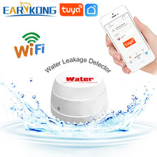 EARYKONG Wifi wykrywacz wody wyciek czujnik alarmowy wykrywacz nieszczelności dźwięk Tuyasmart inteligentne życie APP Alarm powodziowy przepełnienie bezpieczeństwo