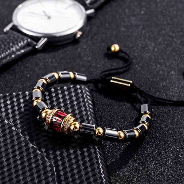 3 шт/компл наборы браслетов с фианитами для мужчин и женщин
